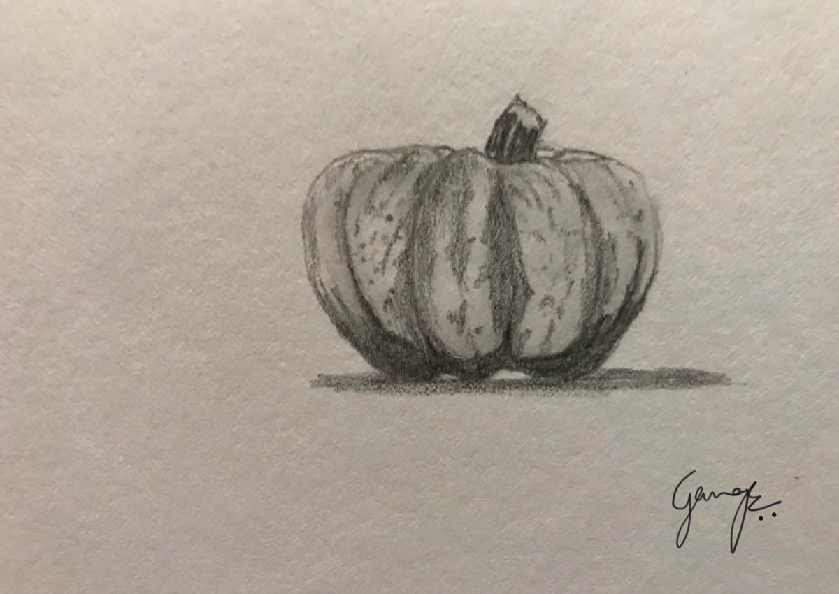 Daily art challenge #17 - pumpkin